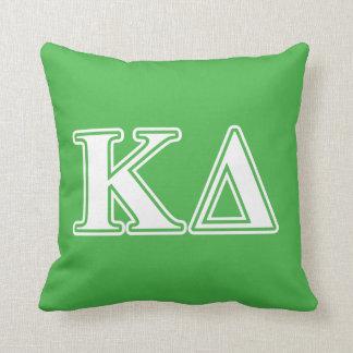Kappa Delta White Letters Cushion