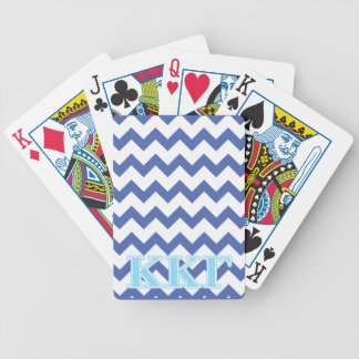 Kappa Kappa Gamma Baby Blue Letters Bicycle Playing Cards