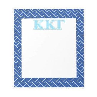 Kappa Kappa Gamma Baby Blue Letters Notepad