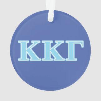 Kappa Kappa Gamma Baby Blue Letters Ornament