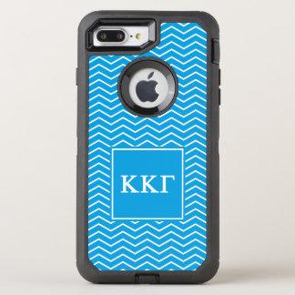 Kappa Kappa Gamma | Chevron Pattern OtterBox Defender iPhone 8 Plus/7 Plus Case