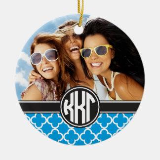 Kappa Kappa Gamma | Monogram and Photo Ceramic Ornament
