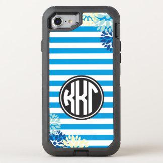 Kappa Kappa Gamma | Monogram Stripe Pattern OtterBox Defender iPhone 8/7 Case