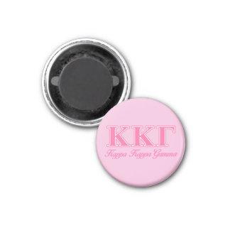 Kappa Kappa Gamma Pink Letters Magnet