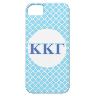 Kappa Kappa Gamma Royal Blue and Baby Blue Letters Case For The iPhone 5