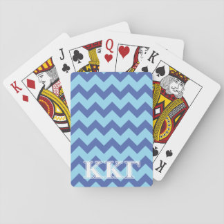 Kappa Kappa Gamma White and Royal Blue Letters Playing Cards