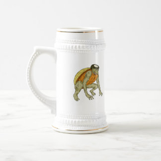 Kappa Monster Crouching Drawing Beer Stein
