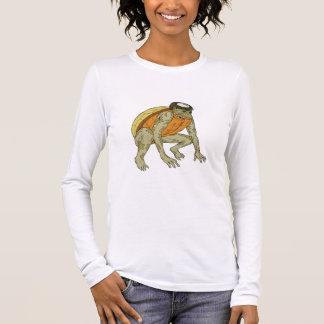 Kappa Monster Crouching Drawing Long Sleeve T-Shirt