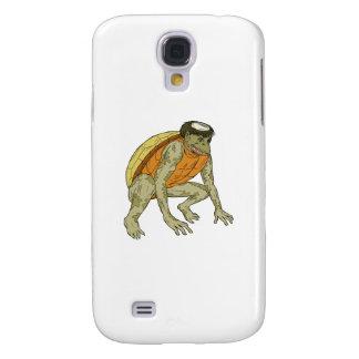 Kappa Monster Crouching Drawing Samsung Galaxy S4 Cases