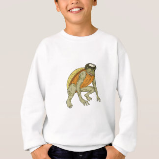Kappa Monster Crouching Drawing Sweatshirt