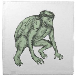 Kappa Monster Crouching Tattoo Napkin