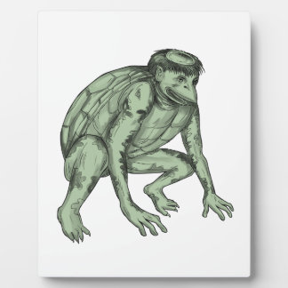 Kappa Monster Crouching Tattoo Plaque