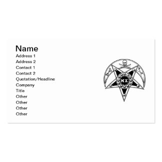 Kappa Sigma Badge Pack Of Standard Business Cards