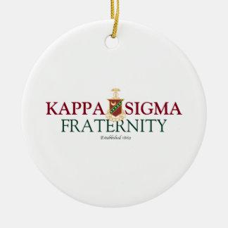 Kappa Sigma Ceramic Ornament
