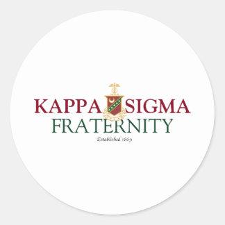 Kappa Sigma Classic Round Sticker