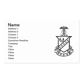 Kappa Sigma Crest - Black and White Pack Of Standard Business Cards