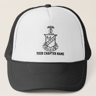 Kappa Sigma Crest - Black and White Trucker Hat