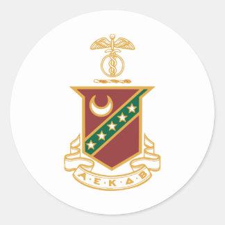 Kappa Sigma Crest Classic Round Sticker