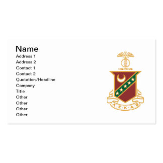Kappa Sigma Crest Pack Of Standard Business Cards