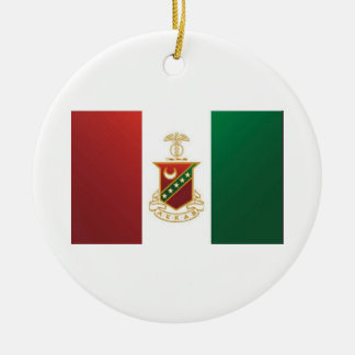 Kappa Sigma Flag Ceramic Ornament