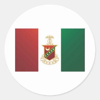 Kappa Sigma Flag Classic Round Sticker