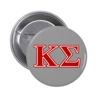 Kappa Sigma Red Letters 6 Cm Round Badge