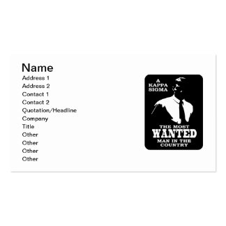 Kappa Sigma - The Most Wanted Pack Of Standard Business Cards