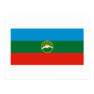 Karachay-Cherkess Republic Flag Postcard