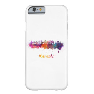 Karachi skyline in watercolor barely there iPhone 6 case