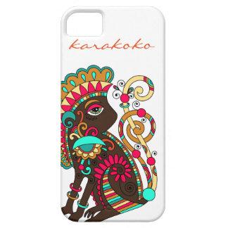 Karakoko Fashion Monkey iPhone Case Mushroom Brown