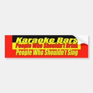 Karaoke Bars Bumper Sticker Car Bumper Sticker