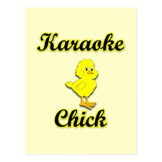 Karaoke Chick Postcard