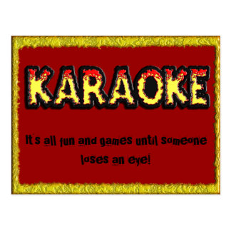 Karaoke Danger - Postcard