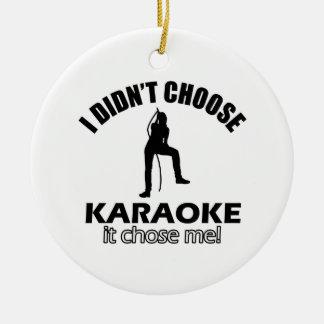 karaoke designs ceramic ornament