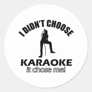 karaoke designs classic round sticker
