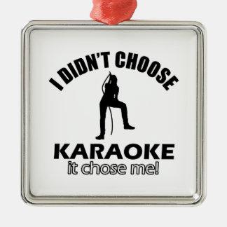 karaoke designs metal ornament