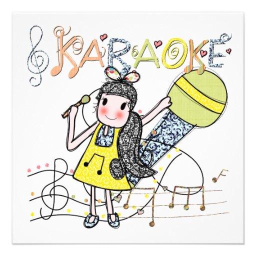 Karaoke Girl Personalized Announcements