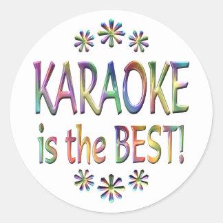 Karaoke is the Best Classic Round Sticker