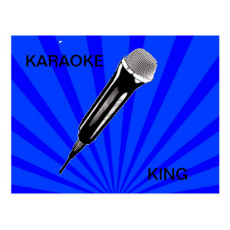 Karaoke King Postcard