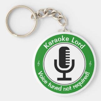 Karaoke Master Basic Round Button Key Ring