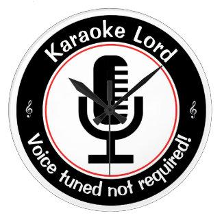 Karaoke Master Large Clock
