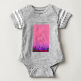 Karaoke Night Audience Poster Baby Bodysuit