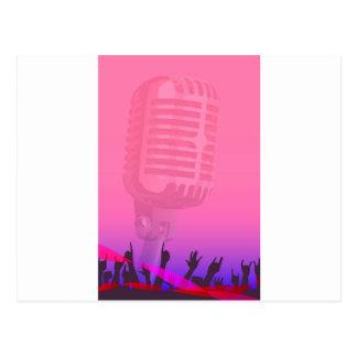 Karaoke Night Audience Poster Postcard