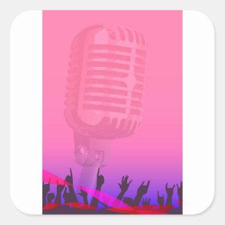 Karaoke Night Audience Poster Square Sticker