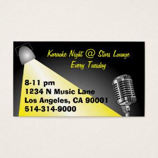 Karaoke/ Open Mic Night Business Card