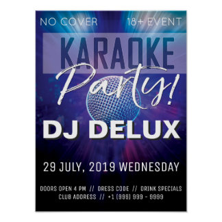 Karaoke Party | DJ | Club Flyer Poster