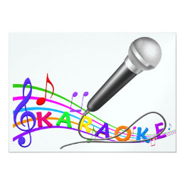 Karaoke party invitations announcements zazzle karaoke party invite srf stopboris Choice Image