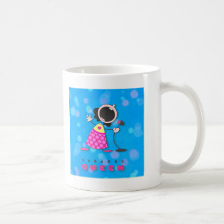 Karaoke Queen Singing Coffee Mug