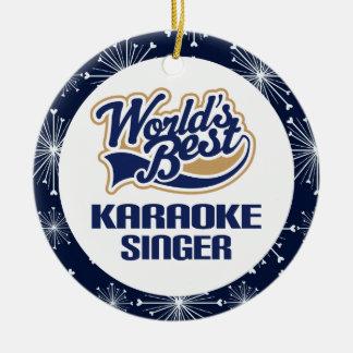 Karaoke Singer Gift Ornament