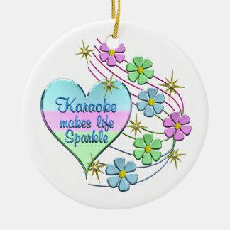 Karaoke Sparkles Ceramic Ornament